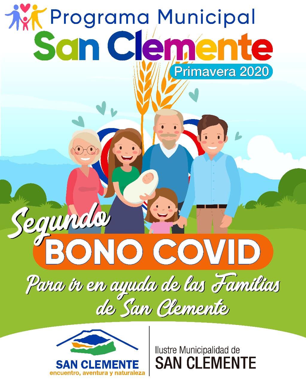 Familias de San Clemente ya pueden acceder al segundo bono Covid, el cual es un aporte económico municipal transferido de manera directa