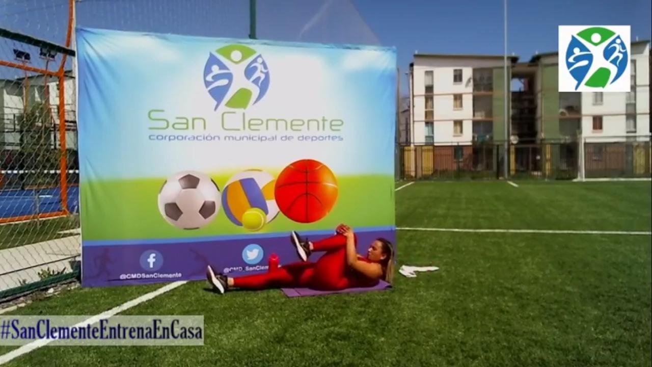 """Corporación municipal de deportes refuerza contenidos """"online"""" en medio de la cuarentena total en San Clemente"""
