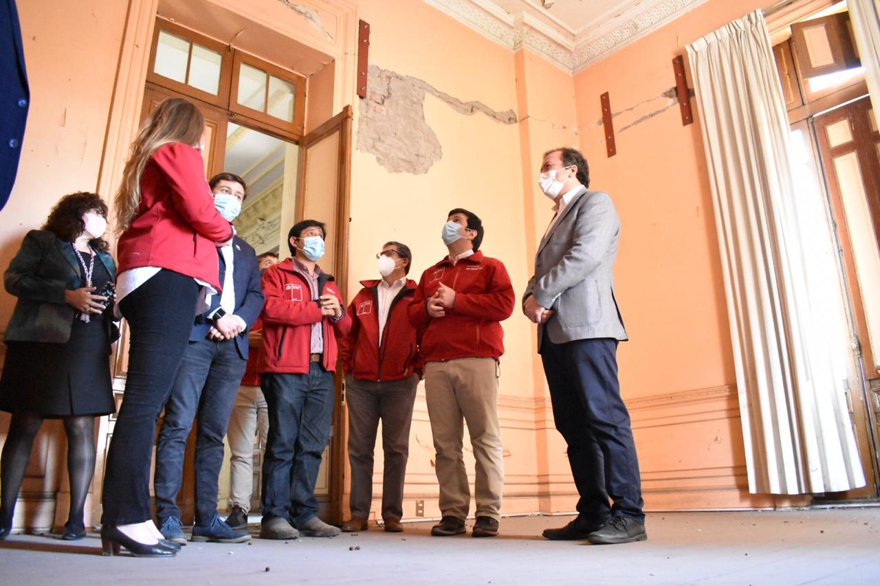 Gobierno Regional aprueba recursos extras para recuperar histórico edificio de la Intendencia del Maule