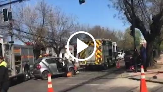 Continúa ola de accidentes de tránsito en la ciudad en la jornada de este pasado martes: 5 se registraron en total