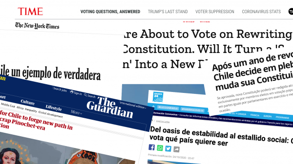 """La prensa internacional aplaude los altos índices de participación tras el plebiscito en Chile y destaca el """"contundente"""" triunfo de la opción Apruebo"""