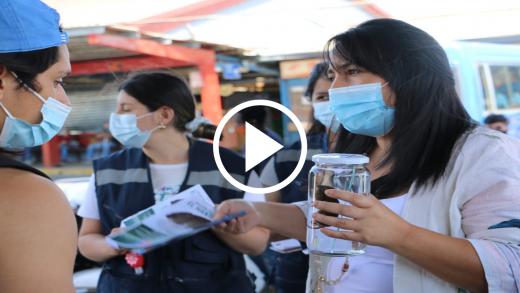 ¿Cuál es la sintomatología del Hanta y cómo prevenir? Seremi de Salud realizó actividad educativa en el Terminal de Buses de Talca