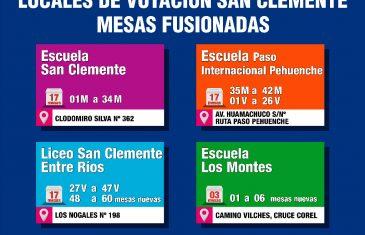 San Clemente tendrá 4 locales de votación para las Elecciones Primarias de Gobernador Regional