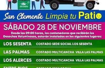 Villas Los Sesenta, Las Palmas, Los Alerces, Entre Ríos y Doña Estela recibirán nuevo Operativo de Retiro de Desechos Voluminosos