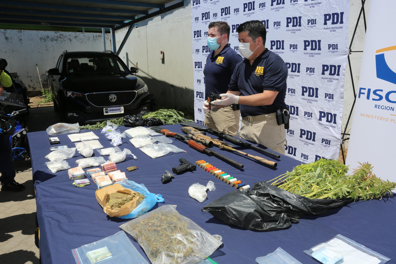 PDI Talca desbarata Clan Familiar dedicado al tráfico de drogas.