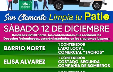 Barrio Norte, Villa Inglesa y Villa Elisa Alvarez recibirán este sábado 12 de diciembre un nuevo Operativo de Retiro de Desechos Voluminosos
