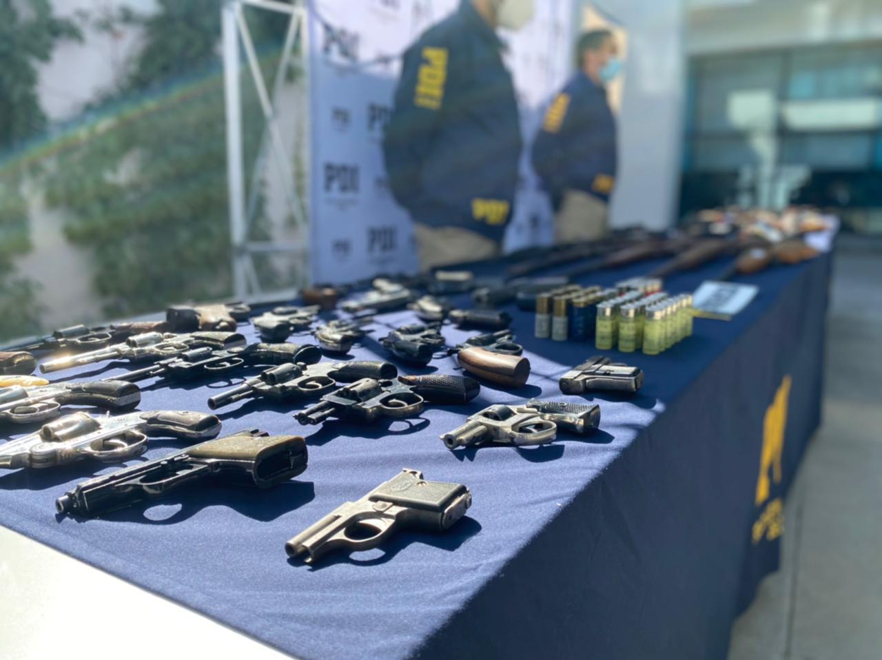 Casi un centenar de armas son incautadas y sacadas de circulación para ser destruidas