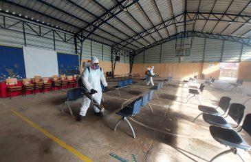 Municipalidad de Talca realiza operativo de sanitización en locales de votación de la comuna