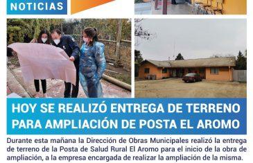 Hoy se realizó entrega de terreno para ampliación de Posta El Aromo