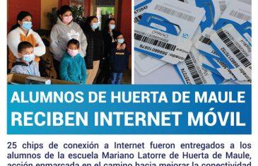Alumnos de Huerta de Maule reciben internet móvil