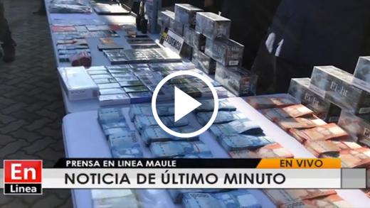 Tras investigación de largo aliento, Brigada Investigadora de lavado de activos y la de Antinarcóticos de la PDI Talca, detuvo a banda dedicada a contrabando de cigarrillos en varias regiones del país