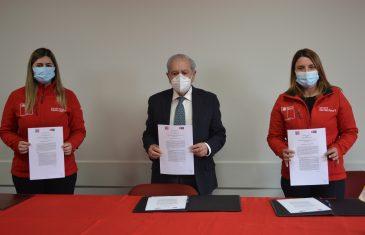 Convenio de colaboración permitirá confeccionar dispositivos para prevenir contagios en empresas maulinas adheridas al ISL