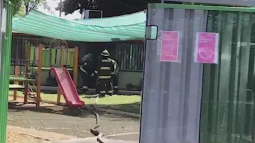 Con éxito se llevó a cabo simulacro de incendio en jardín infantil osito pandy de junji en Talca